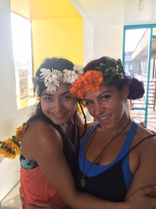 The luminous Kristina and I post BodyLove workshop on the Summer Solstice