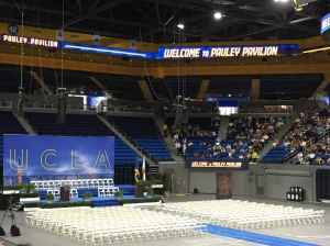 Pauley Pavilion at UCLA, pre-ceremony