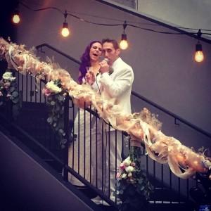 Me and Greg on railing