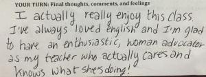 Student response 4