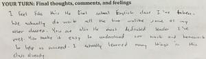 Student response 5