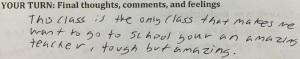 Student response 8