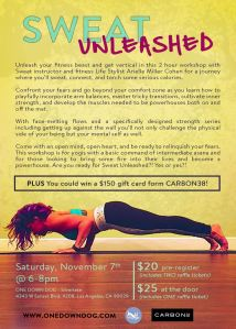 Sweat Unleashed flyer AMC
